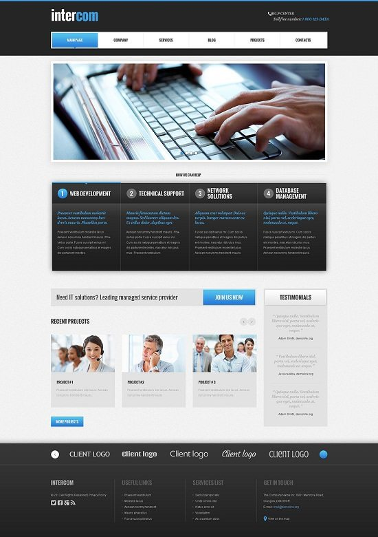 Intercom Communications Responsive WordPress Theme