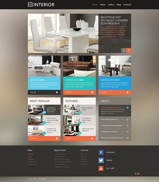 Interior Design for Professionals WordPress Theme