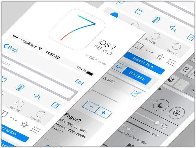 Introducing iOS 7 GUI PSD
