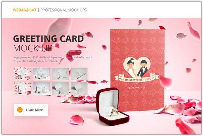 Invitation Greeting Card Mock-Up