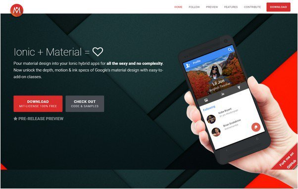Ionic + Material