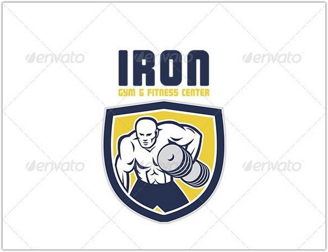 Iron Gym and Fitness Center Logo