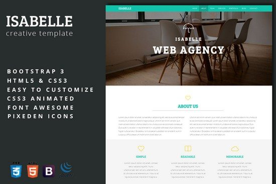 Isabelle - Creative Agency Template