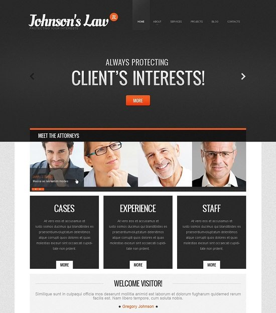JOHNSON'S Law Firm WordPress Theme