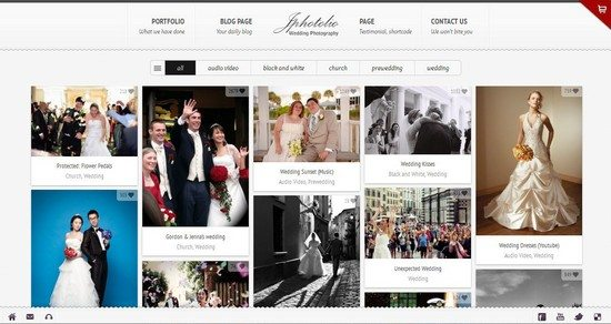 JPhotolio Responsive Wedding Photography WP Theme