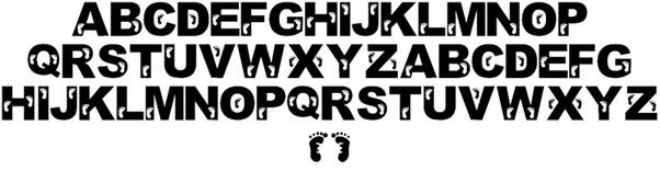 Jenna's Feet font
