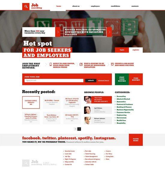 Job Searching Portal Responsive Website Template