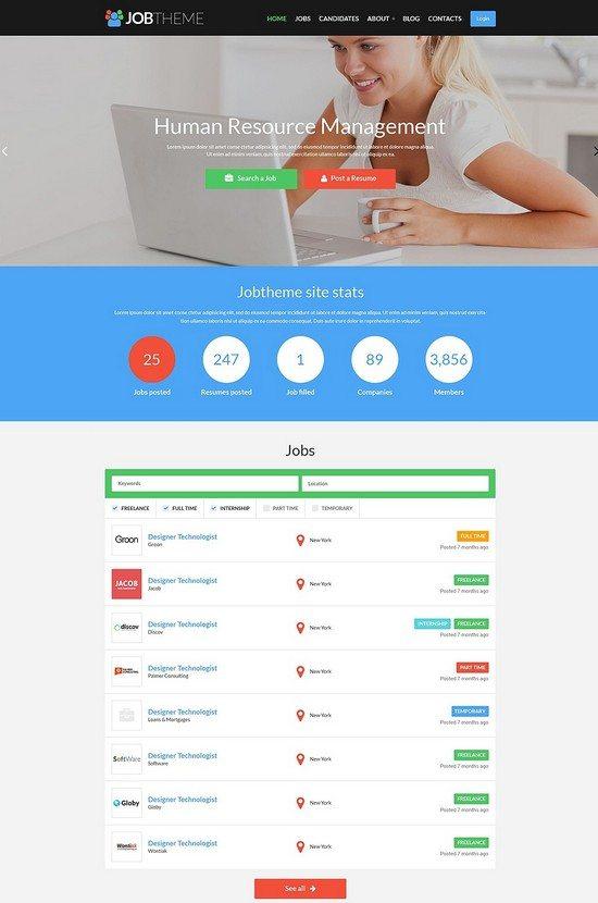 Job Theme Portal Responsive WordPress