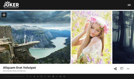 Joker - Photo & Video Portfolio HTML Template