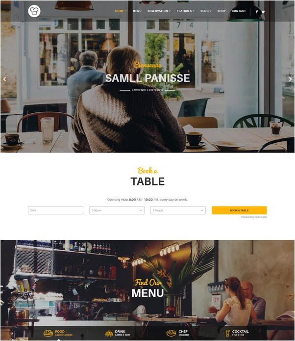 Joomla Restaurant Template - Resca