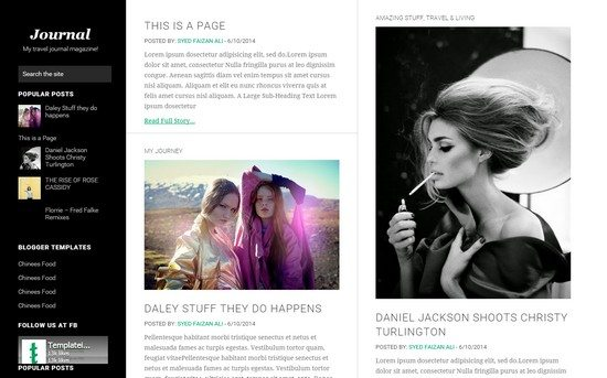 Journey is a traveller blogger template