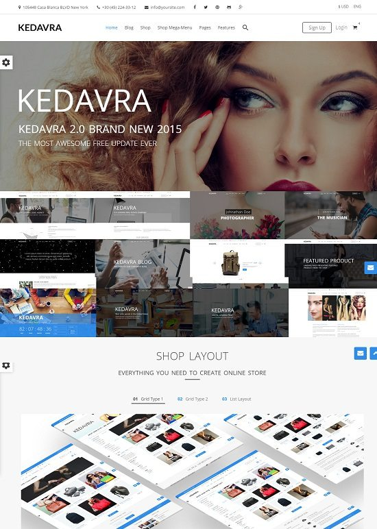 KEDAVRA – Multipurpose 2 Themes in 1