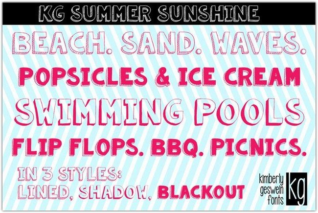 KG Summer Sunshine font by Kimberly Geswein