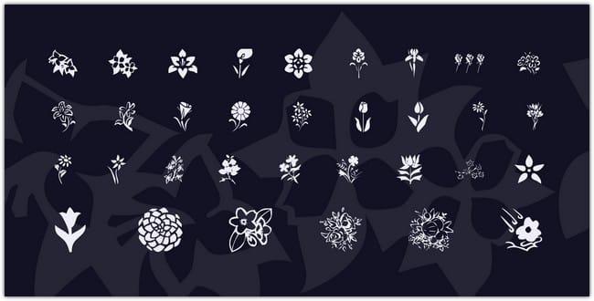 KR Blossoms 1 Font