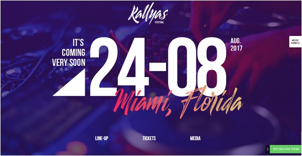 Kallyas  Musicfestival WordPress Theme