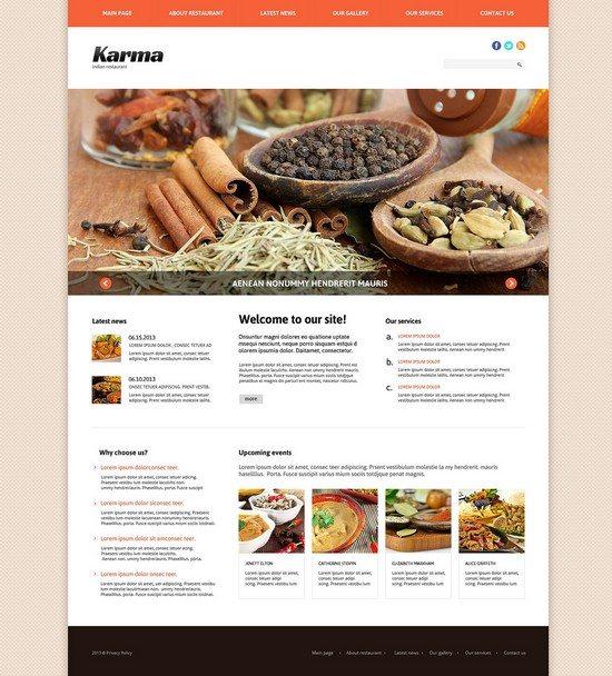 Karma Indian Restaurant Responsive Joomla Template