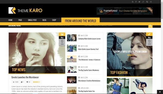 Karo Magazine HTML5 Template