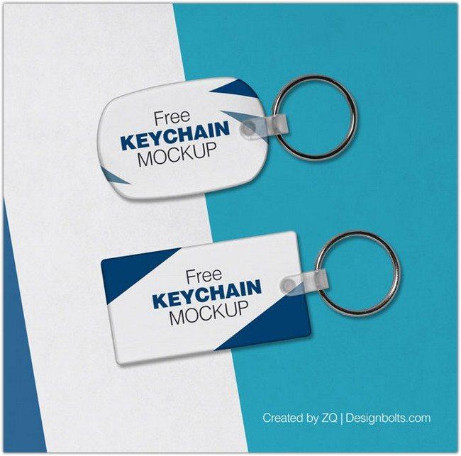 PSD Key Ring Mockup