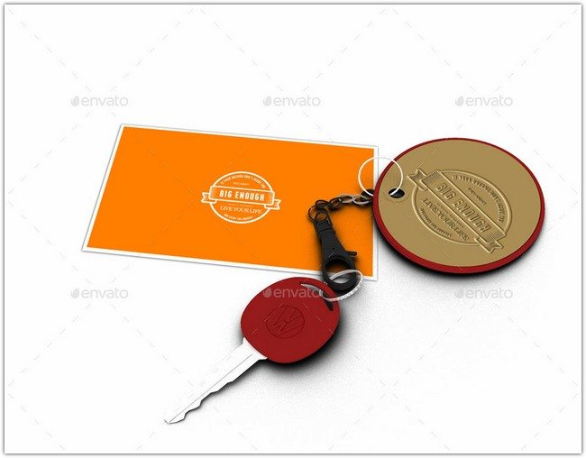 corporate identity Keychain Mockup