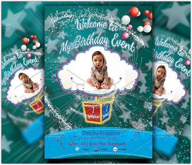Kid Birthday Event Flyer