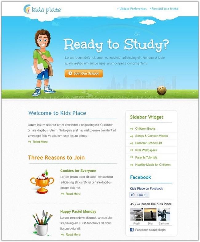 kids-newsletter-template