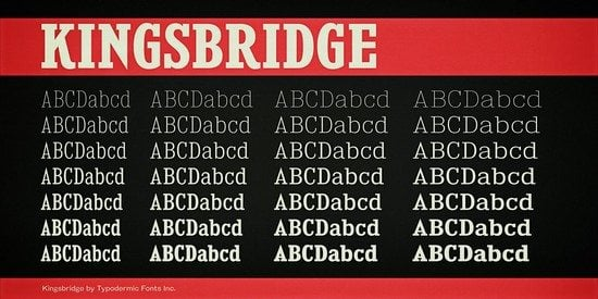 Kingsbridge Font Family