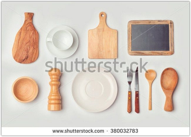 Knife, Spoon, Cup, Dish Mockup Template