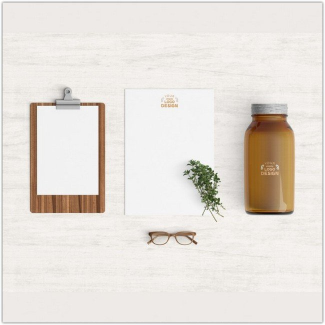 Kitchen products mock up Free Psd