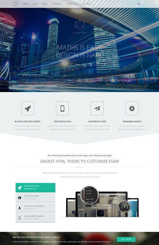 Krypton - Responsive Multipurpose HTML Template