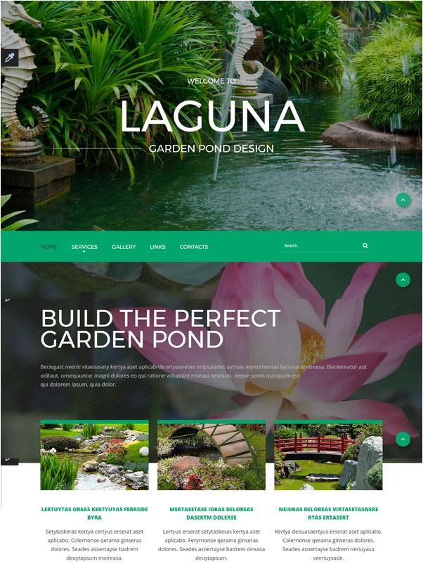 LAGUNA Garden Pond Design Website Template