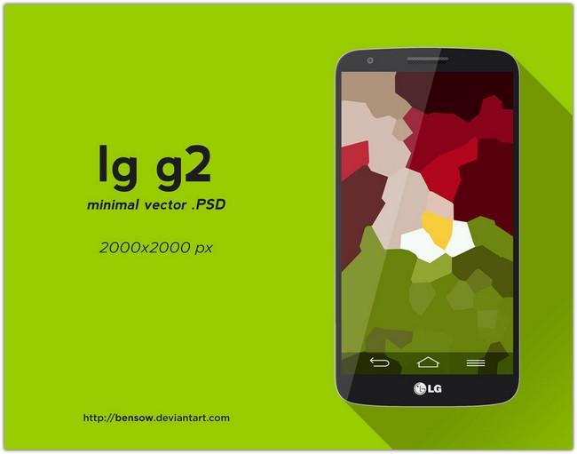 LG G2 Vector PSD