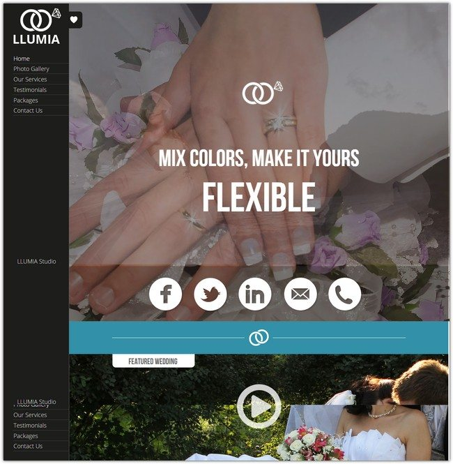LLUMIA Muse Wedding Template