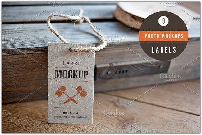 Labels - 9 photo mockups