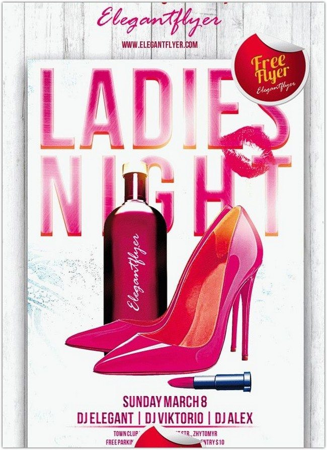 Ladies Night – Club and Party Free Flyer PSD Template
