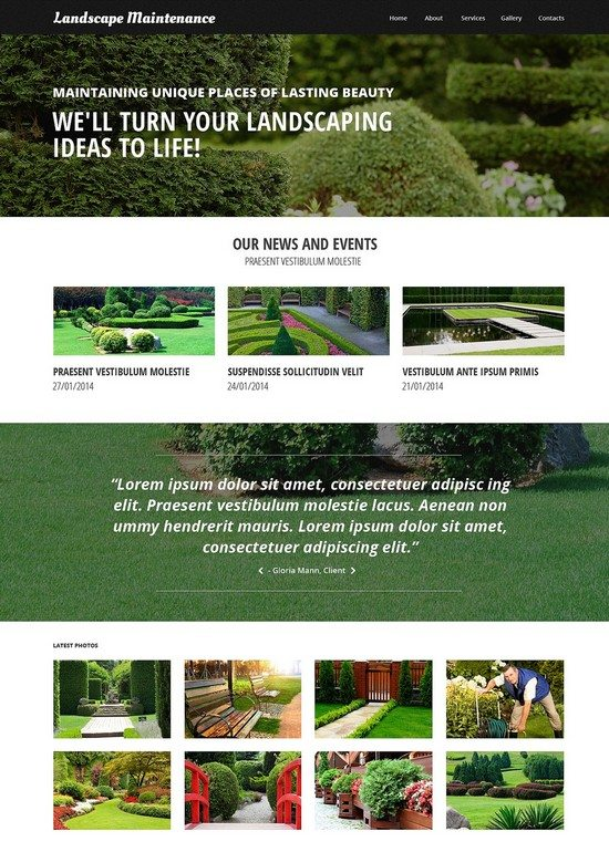 Landscape Maintenance Design Responsive Website Template