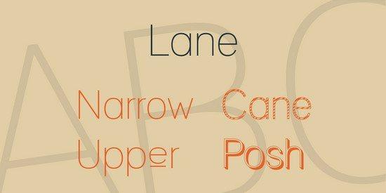 Lane Font Family