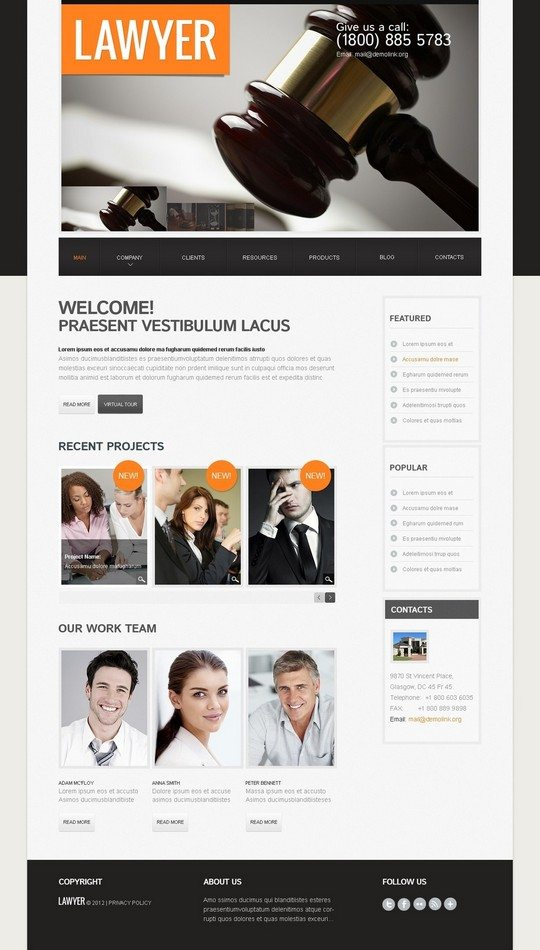 Lawyer Firm WordPress Theme