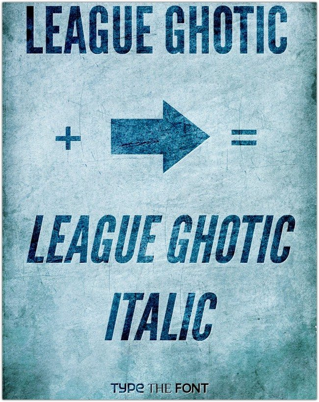 League Ghotic Extended Italic