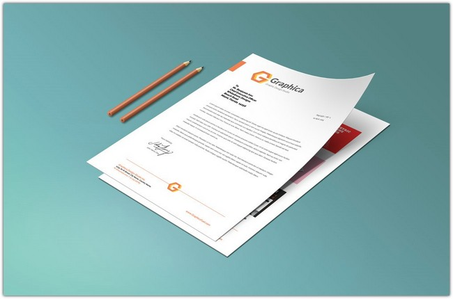 Letterhead And Paper Portfolio Mockup PSD