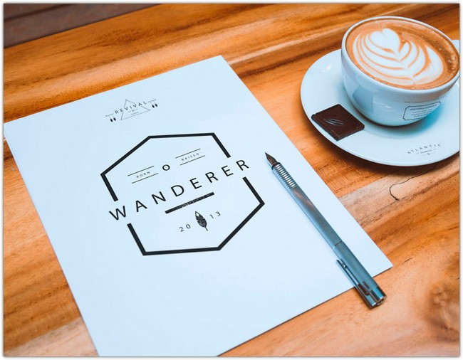 Letterhead and Coffee Cup