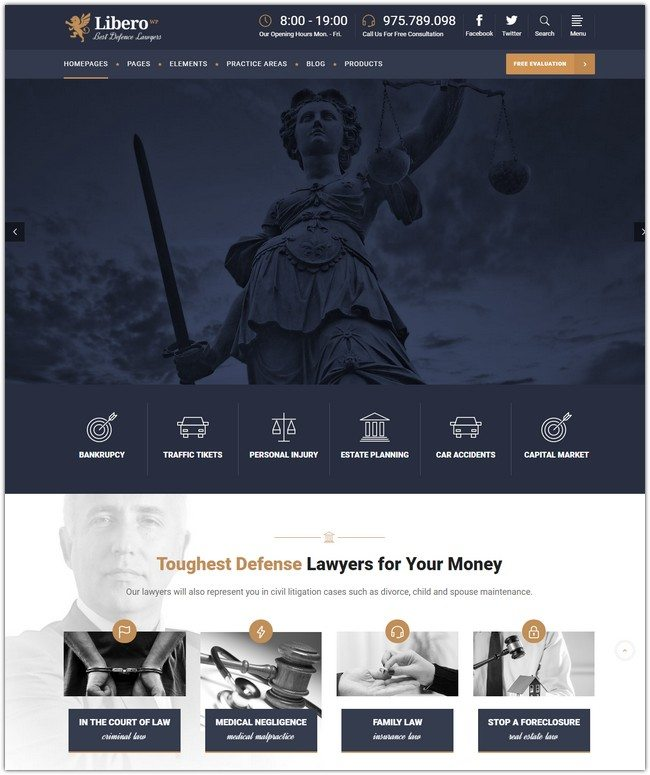 Libero - A Theme for Lawyers and Law Firms