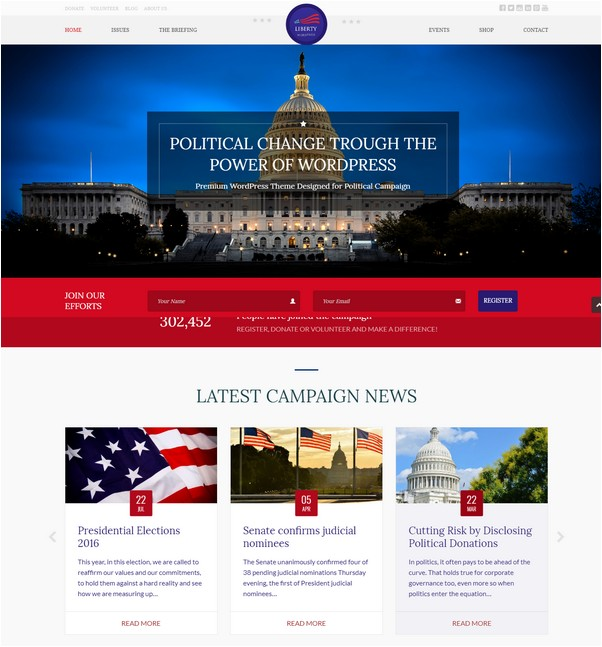 Liberty - Your Political WordPress Theme