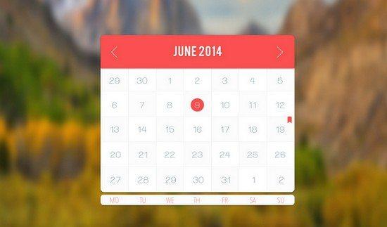 Light Calendar app freebie