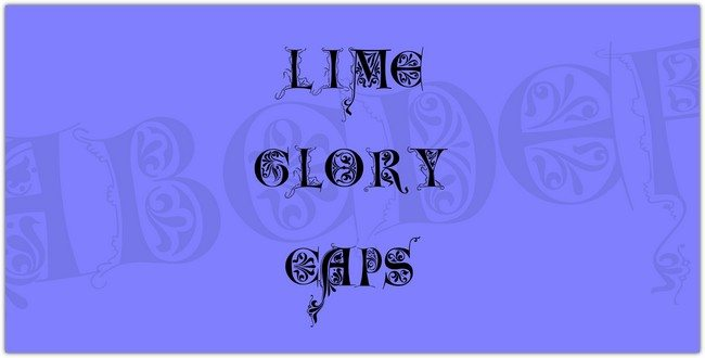Lime Glory Caps Font