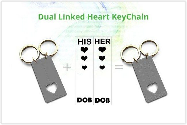 Linked Heart Keychain