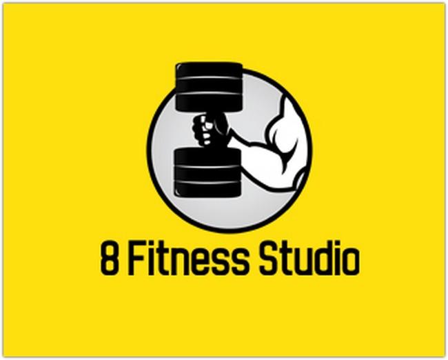 Logo Design - 8 FItness Studio