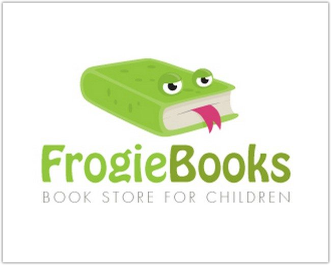Logo Design - Frogie Books