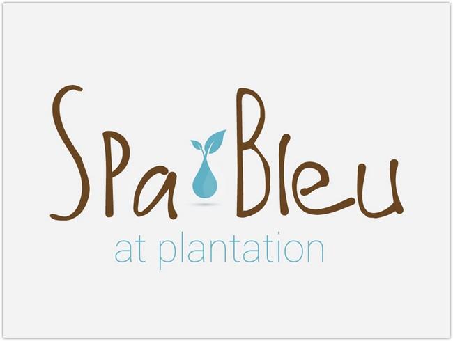 Logo Design Mock-up - Spa Bleu 2