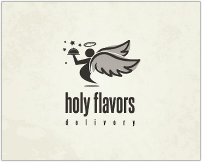 Logo Design - holy flavor delivery