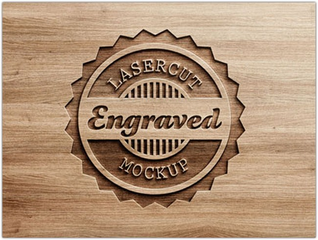 Logo Mock-Up – Carved Wood
